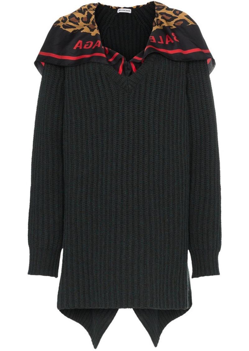 Balenciaga scarf detail wool jumper