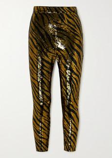 Balenciaga Sequined Stretch-jersey Leggings