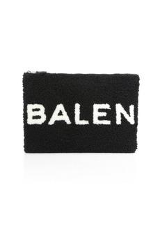 Balenciaga Shearling Logo Pouch