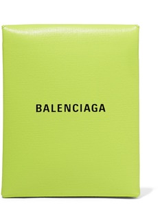 Balenciaga Shopping Envelope Printed Textured-leather Clutch