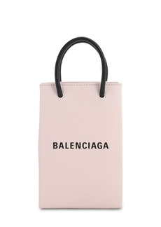 Balenciaga Shopping Leather Phone Holder