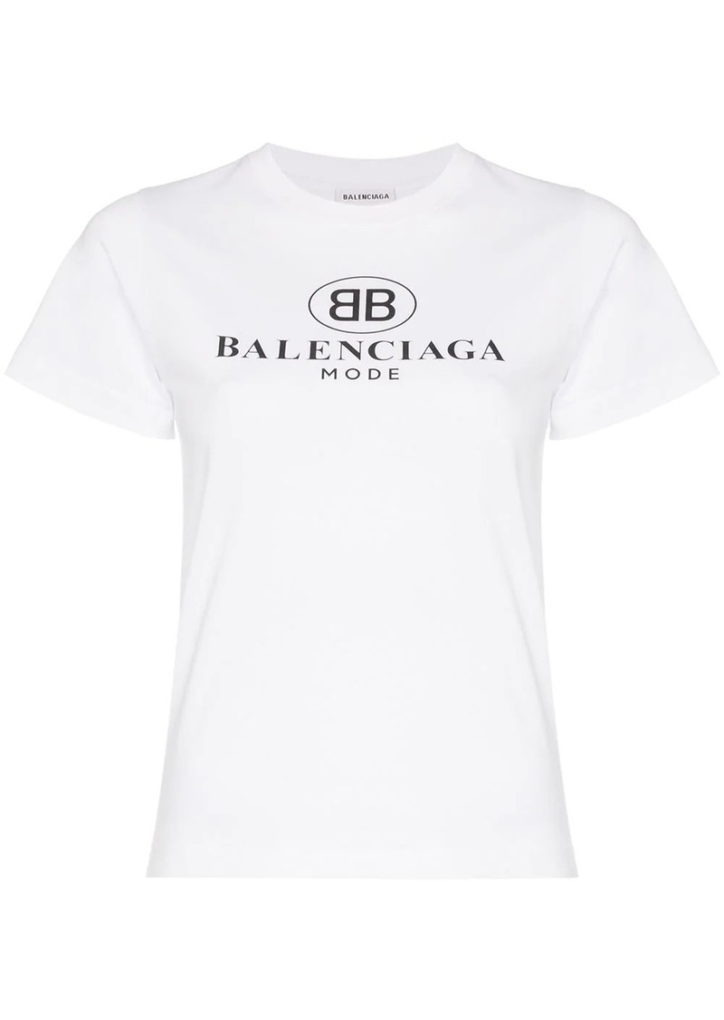 Balenciaga Short-sleeve cotton logo tee