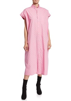 Balenciaga Short-Sleeve Mini-BB Dress
