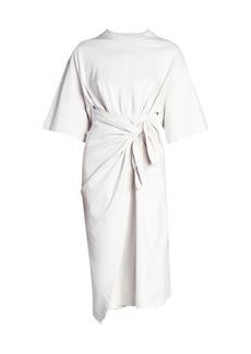 Balenciaga Short-Sleeve Wrap T-Shirt Dress