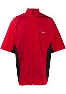 Balenciaga short sleeve zip-up shirt