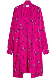 Balenciaga Silk Crepe Printed Dress