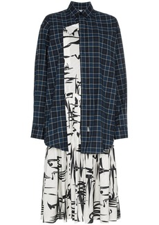 Balenciaga silk layered shirt dress