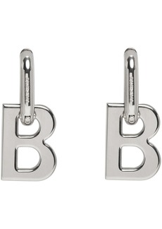 Balenciaga Silver B Chain Earrings