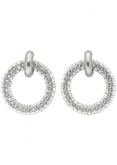 Balenciaga Silver Double Hoop Earrings