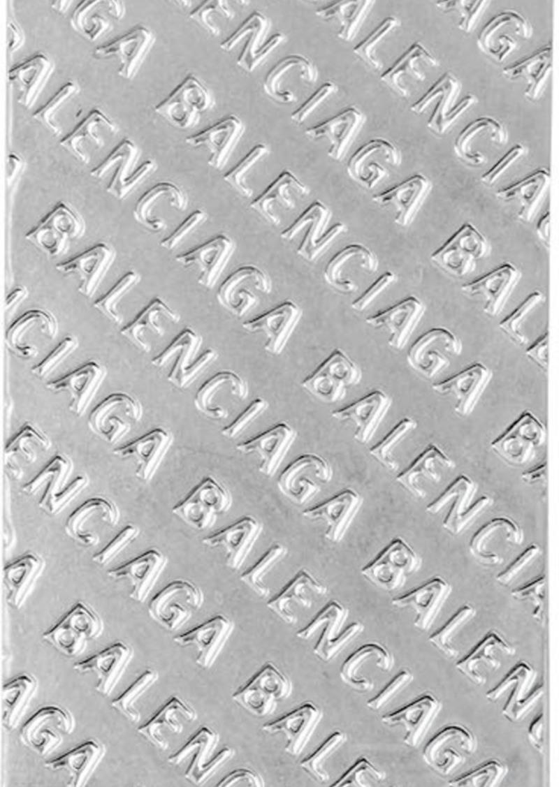 Balenciaga Silver Logo-Engraved Money Clip