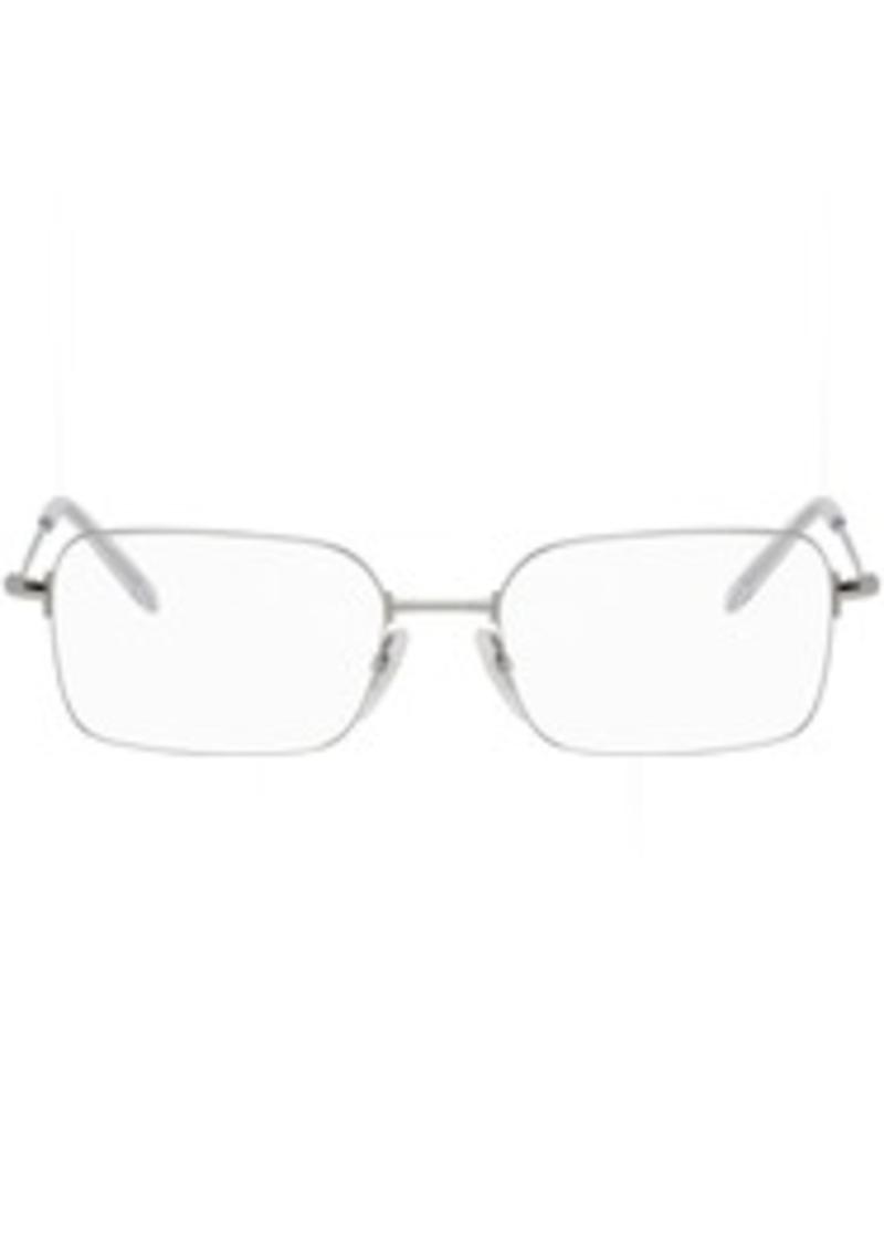 Balenciaga Silver Metal Rectangular Glasses