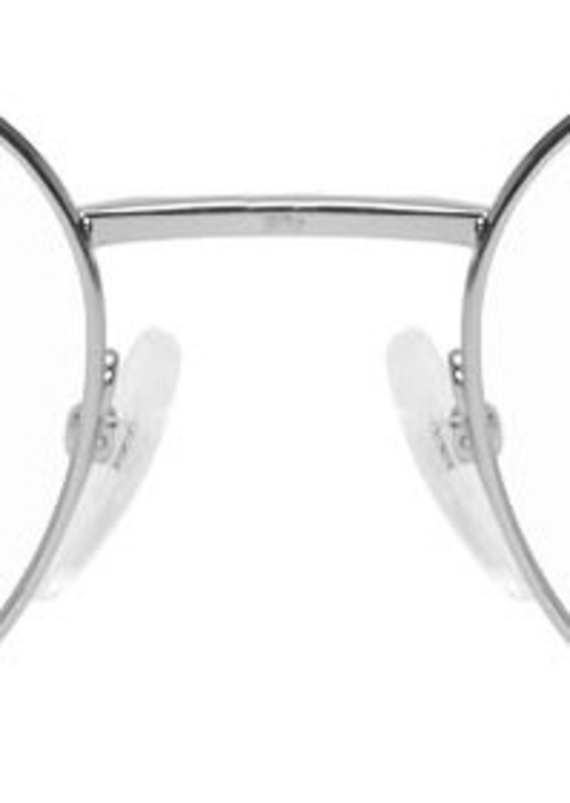 Balenciaga Silver Metal Round Glasses
