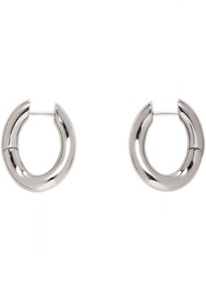 Balenciaga Silver Small Loop Earrings