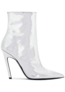 Balenciaga Silver Talon Mirror 80 Ankle Boots