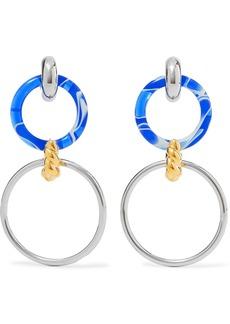 Balenciaga Silver-tone, Gold-tone And Resin Earrings