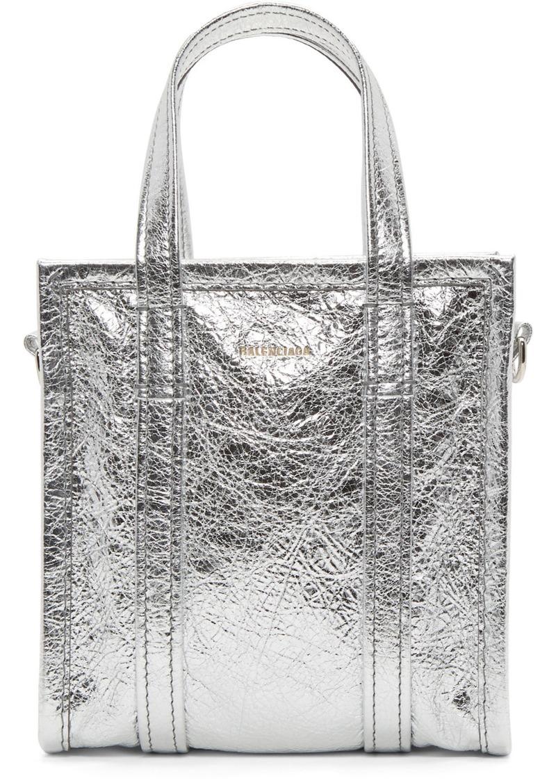 Balenciaga Silver XXS Bazar Shopper Tote
