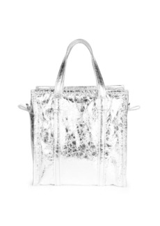 Balenciaga Small Bazar Metallic Leather Shopper