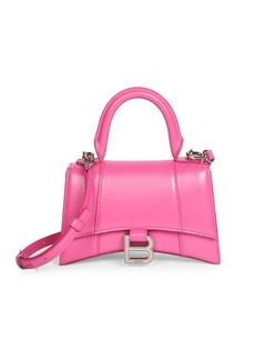 Balenciaga Small Hour Leather Top Handle Bag