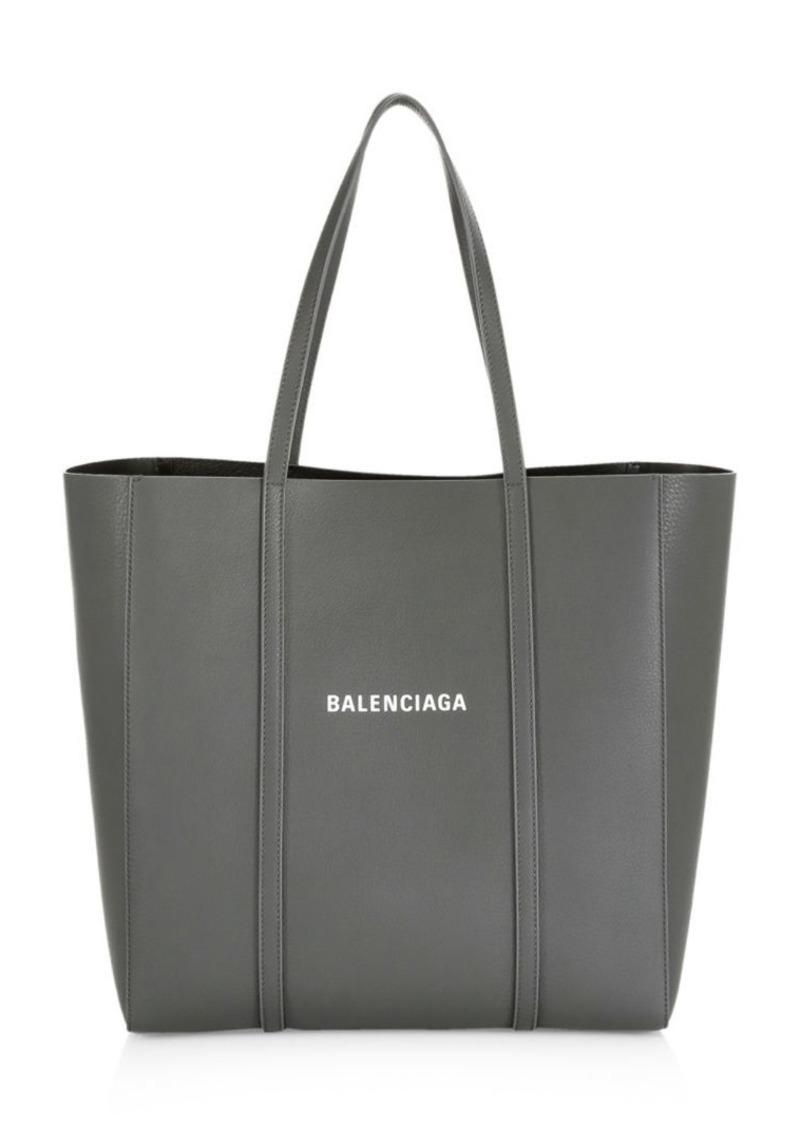 Balenciaga Small Logo Everyday Leather Tote