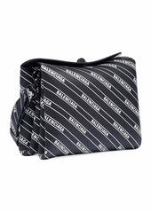 Balenciaga Small Logo-Print Flap Shoulder Bag