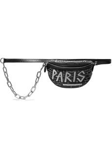 Balenciaga Souvenir Xxs Aj Printed Textured-leather Belt Bag