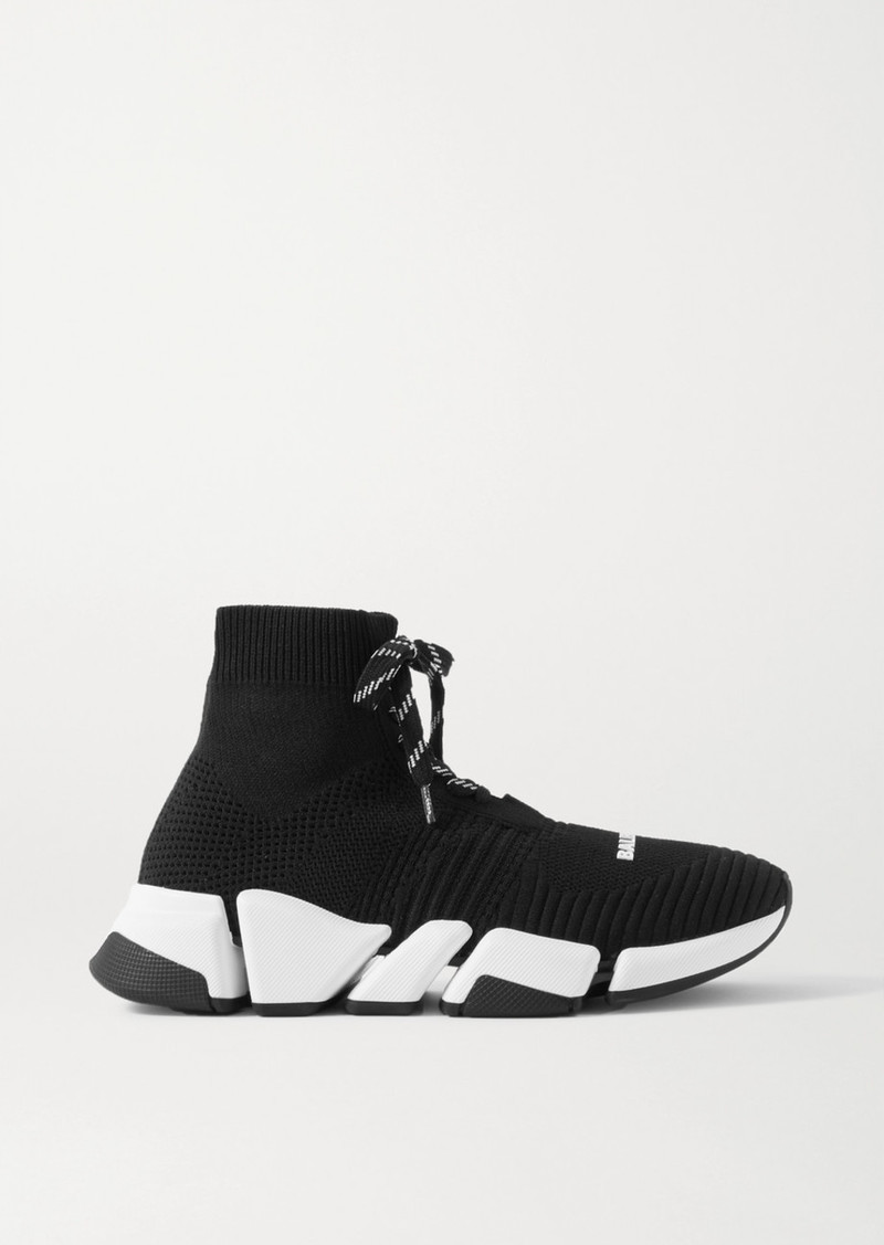Balenciaga Speed 2.0 Stretch-knit High-top Sneakers