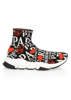 Balenciaga Speed Jacquard Paris Sock Sneakers