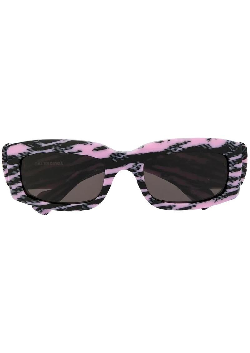 Balenciaga square frame abstract print sunglasses