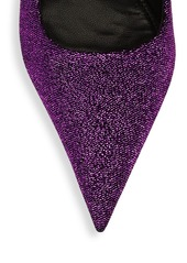 Balenciaga Square Knife Glitter Pumps