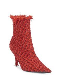 Balenciaga Stiletto Heel Tweed Booties