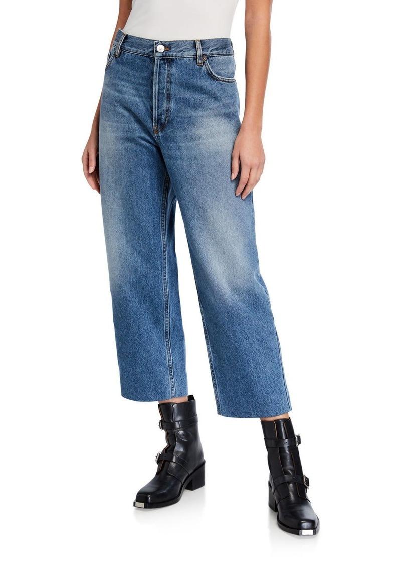 Balenciaga Straight-Leg Cropped Jeans