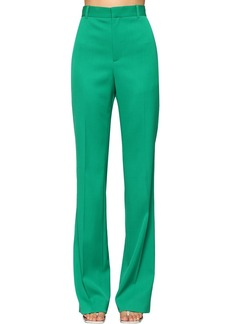 Balenciaga Straight Leg Virgin Wool Twill Pants