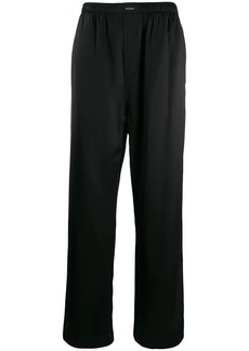 Balenciaga straight pajama trousers