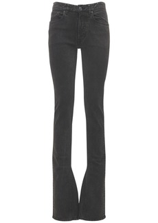 Balenciaga Stretch Cotton Denim Flared Jeans