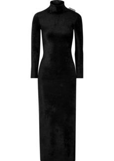 Balenciaga Stretch-velvet Turtleneck Maxi Dress