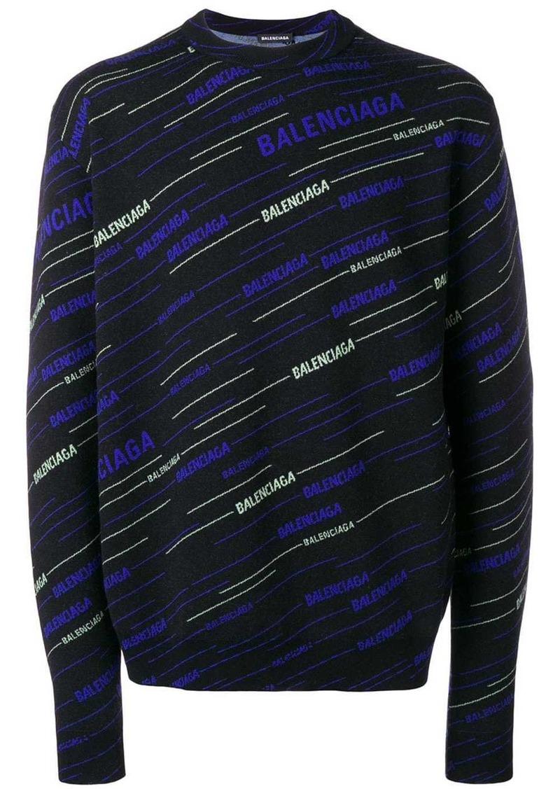 Balenciaga Stripe logo sweater