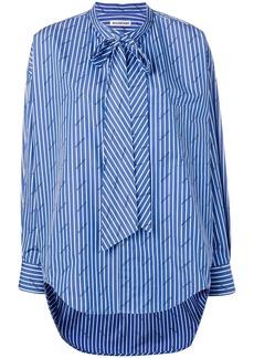 Balenciaga striped logo swing shirt
