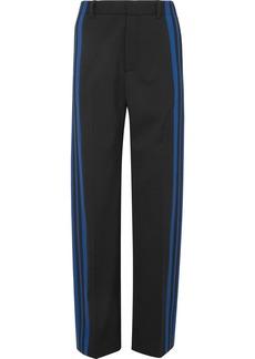 Balenciaga Striped Stretch-crepe Track Pants