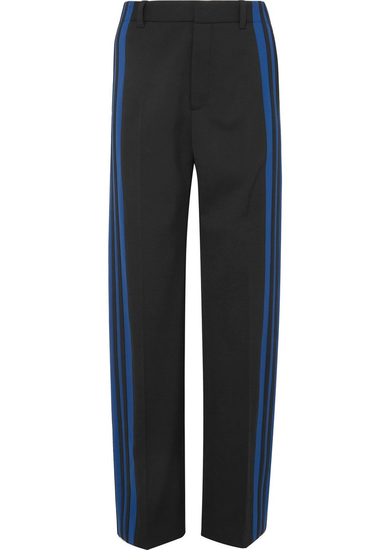 Balenciaga Striped Stretch-crepe Track Pants