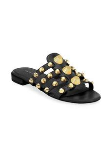 Balenciaga Studded Leather Flats