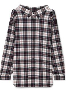Balenciaga Swing Oversized Checked Cotton-flannel Shirt