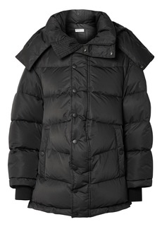 Balenciaga Swing Oversized Embroidered Quilted Shell Down Jacket