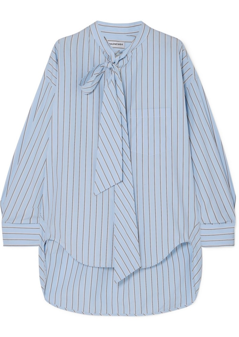 Balenciaga Swing Striped Cotton-poplin Shirt
