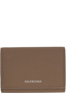 Balenciaga Taupe Ville Accordion Card Holder