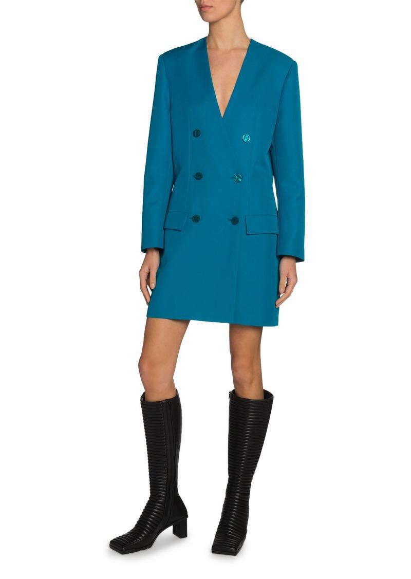Balenciaga Tech Twill Double-Breasted Blazer Dress