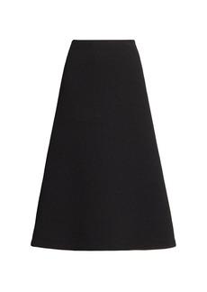 Balenciaga Technical Rib-Knit A-Line Skirt