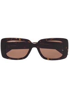 Balenciaga tortoise rectangle sunglasses