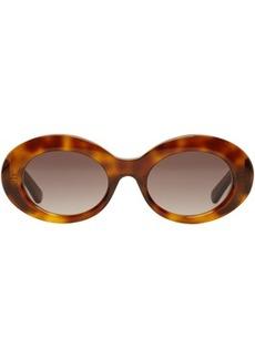 Balenciaga Tortoiseshell Acetate Round Sunglasses
