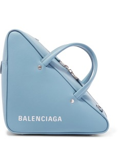 Balenciaga Triangle Duffle Printed Leather Tote