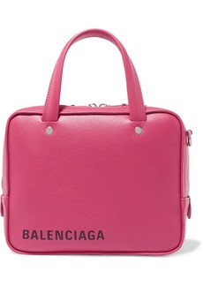 Balenciaga Triangle Square Xs Printed Textured-leather Tote